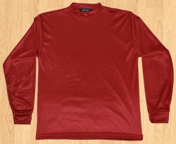 Step One Burgundy Tricot Dazzle 100% Polyester Shirt S18SHA