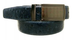 Serpi Denim Blue Ostrich Print Genuine Leather Belt F1/30