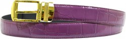 Giorgio Brutini Fuchsia Alligator Print Leather Belt