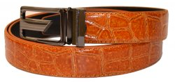 Serpi Cognac Alligator Print Genuine Leather Belt F9/30