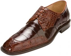 "Belvedere ""Cane"" Brandy / Brown Genuine Crocodile Belly/Eel Shoes"