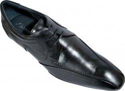 "Bacco Bucci ""David"" Black Genuine Super Soft & Supple Italian Calfskin Shoes"