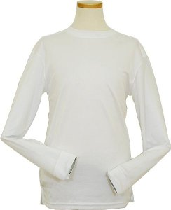 Pronti 15641 White Tricot Dazzle 100% Polyester Long Sleeve Mock Neck Shirt