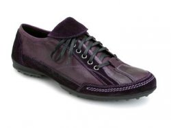 "Bacco Bucci ""Cheechoo"" Purple Genuine Artisan Antiqued Hand Rubber Finish Sport Shoes"