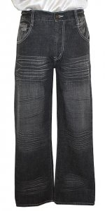 Cielo Black Embroidered 100% Cotton Distressed Denim Jeans