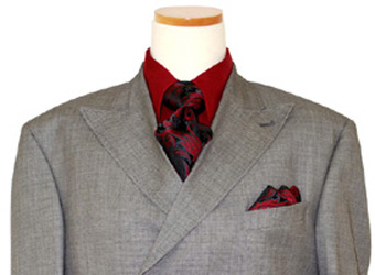 Extrema by Zaneetti GreyBlack Double Breasted 130s Wool Suit