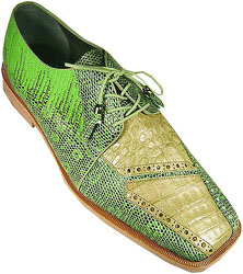 Romano Gutta Lime green Genuine Crocodile Lizard Shoes