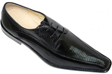 Belvedere volpe balck Genuine Lizard Pointed Toe Shoes