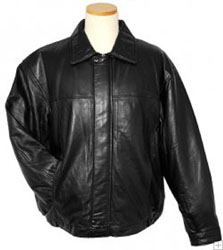 Hind Black Lambskin Leather Bomber Jacket