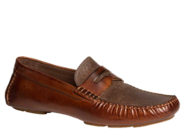 "Bacco Bucci ""Albatros"" Brown Calfskin Loafer Shoes 7779"