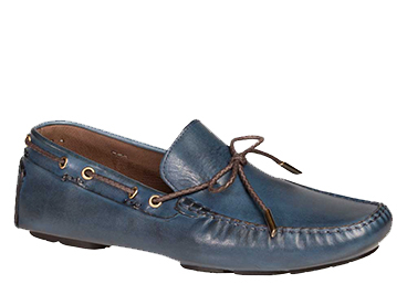 "Bacco Bucci ""Istria"" Blue Calfskin Loafer Shoes 7780"