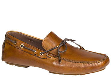 "Bacco Bucci ""Istria"" Tan Calfskin Loafer Shoes 7780"