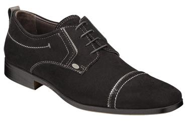 "Bacco Bucci ""Ferraro"" Black Genuine Suede with Calfskin Shoes"