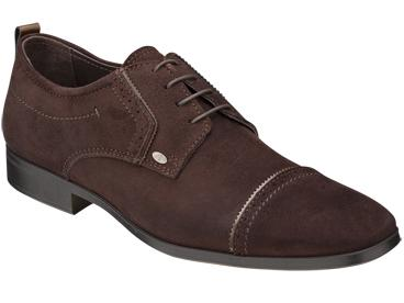"Bacco Bucci ""Ferraro"" Brown Genuine Suede with Calfskin Shoes"