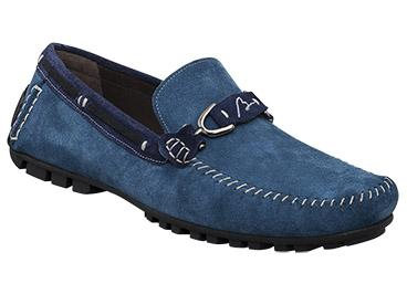 "Bacco Bucci ""Flavio"" Royal Blue/ Navy Genuine Suede Leather Loafer Shoes"