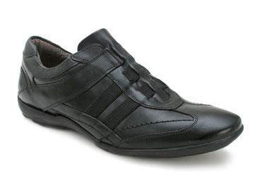 "Bacco Bucci ""Fausto"" Black Genuine Leather Sport Shoes"