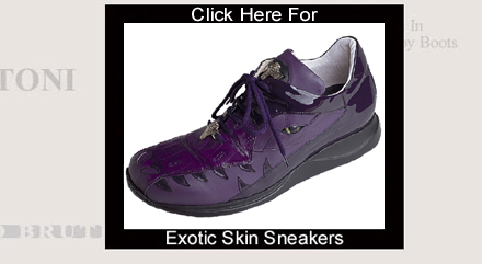 Click Here For Exotic Skin Sneakers