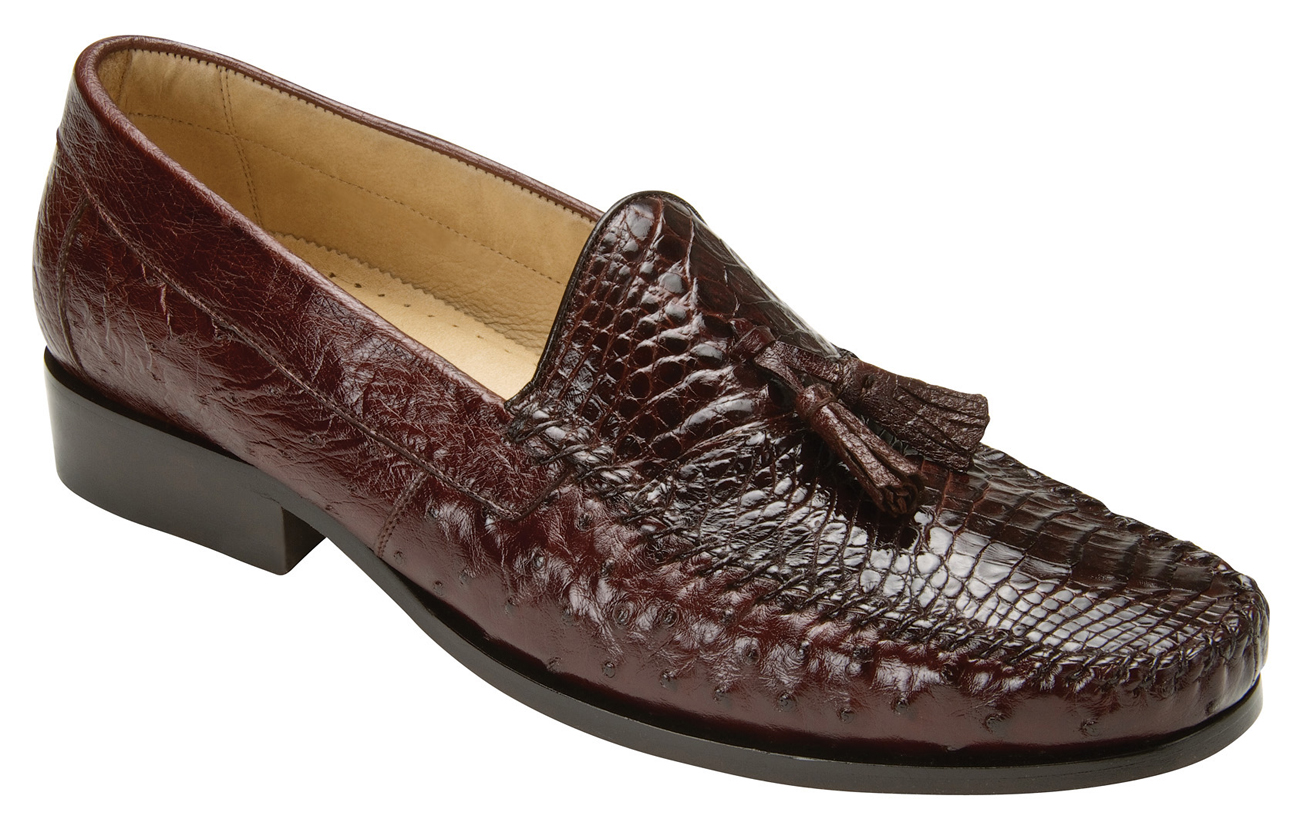 Belvedere Bari Brown Genuine Alligator and Ostrich Skin ...