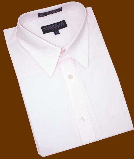 Daniel ellissa solid light pink cotton blend dress shirt for Daniel ellissa men s dress shirts