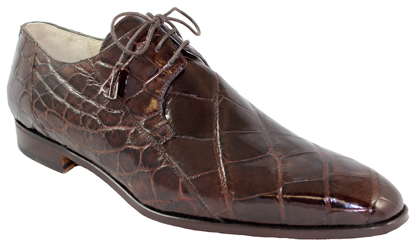 0044ec49c5f Fennix Italy 3228 Chocolate All Over Genuine Alligator Shoes.