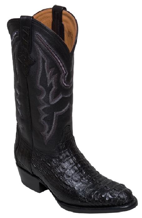 Crocodile skin boots - photo#13