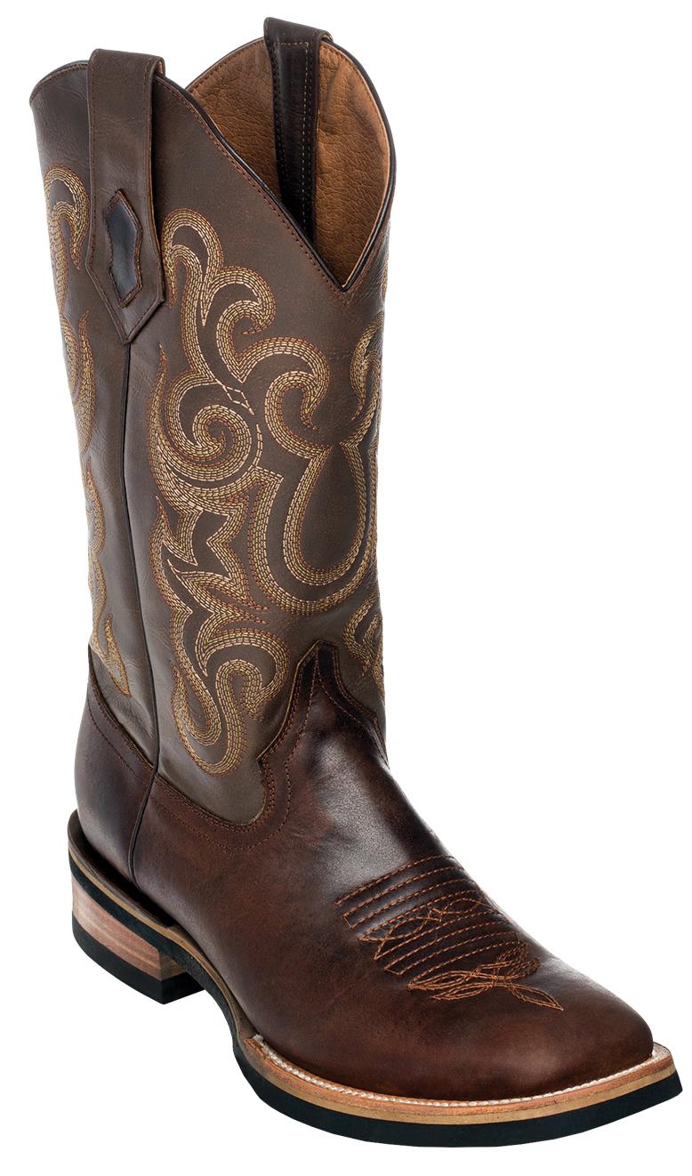 c0a5622ecaa Ferrini 15093-09 Chocolate Genuine Leather S-Toe Cowboy Boots.
