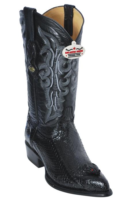 29685f1ea01 Los Altos Black Genuine All-Over Cobra With Head J-Toe Cowboy Boots 996405