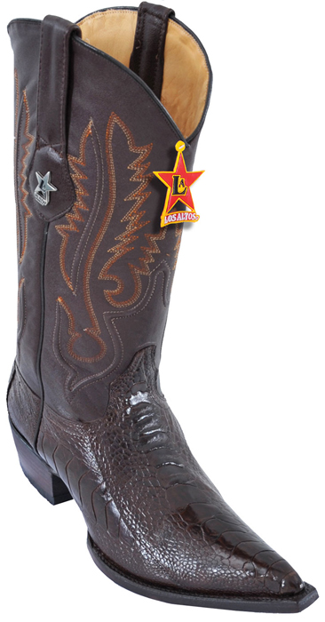 e70c415b3a3 Los Altos Brown Genuine Teju 3X Toe W / Cowboy Heel Boots 95V0707