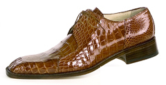 "Mauri ""Pitti"" 2982 Light Gold Genuine All Over Baby Alligator Shoes"