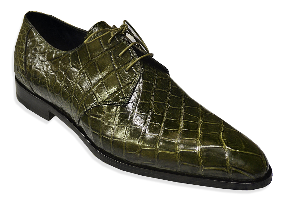 Mens Green Alligator Shoes