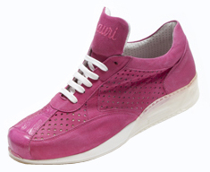 "Mauri ""Cherry"" M770 Fuschia Genuine Crocodile Suede Leather Sneakers"