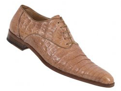 Mauri 2122/1 Waxy Tan Genuine All-Over Crocodile Shoes