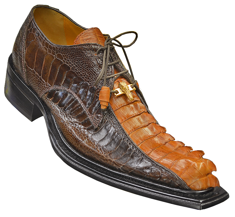 Mauri Cactus 44205 Chocolate Peanut Er Genuine Hornback Crocodile Tail Ostrich Shoes