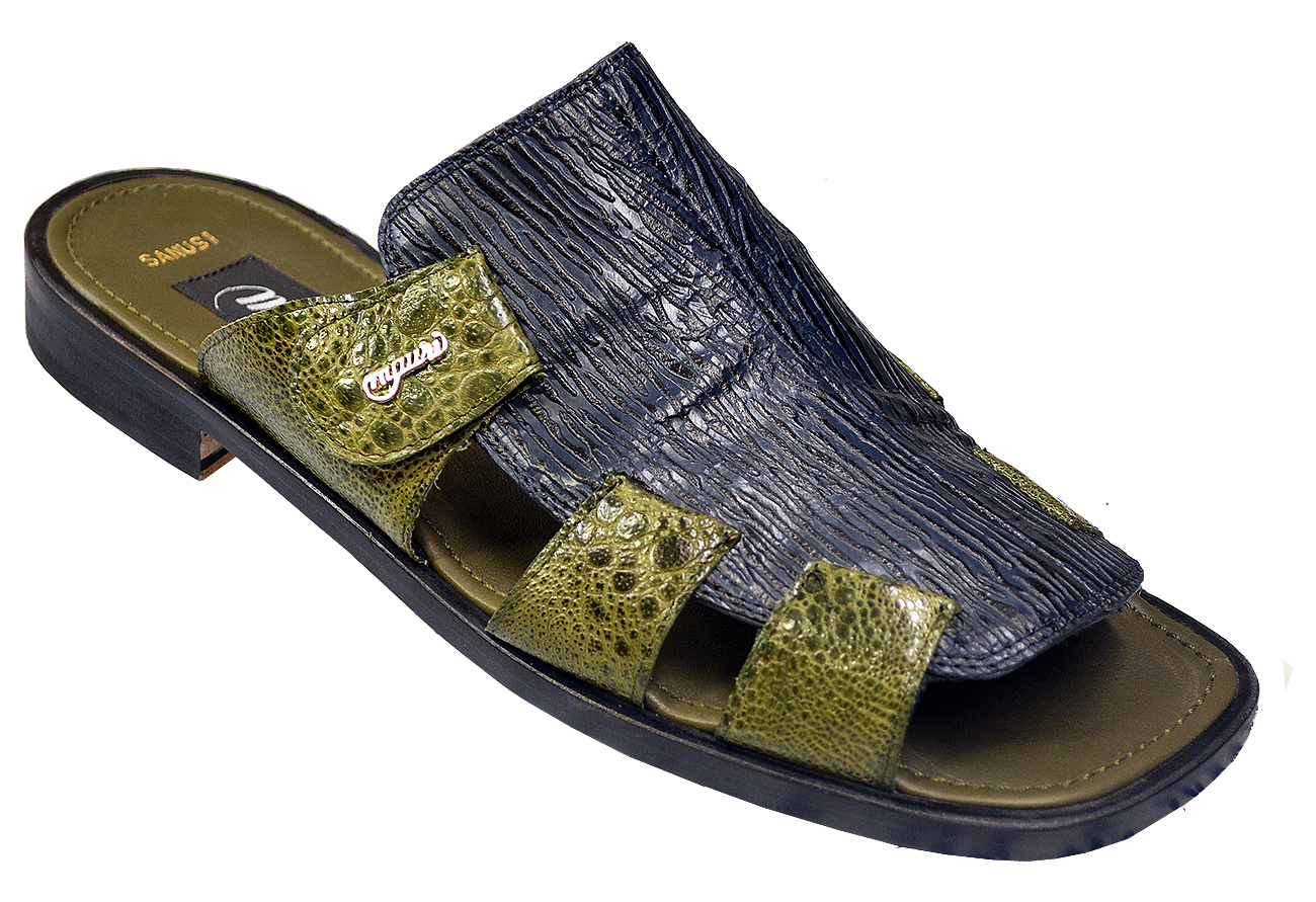 Sandals Sage Skin Mauri 1542 Shark Green Frog Genuine D9EHIW2