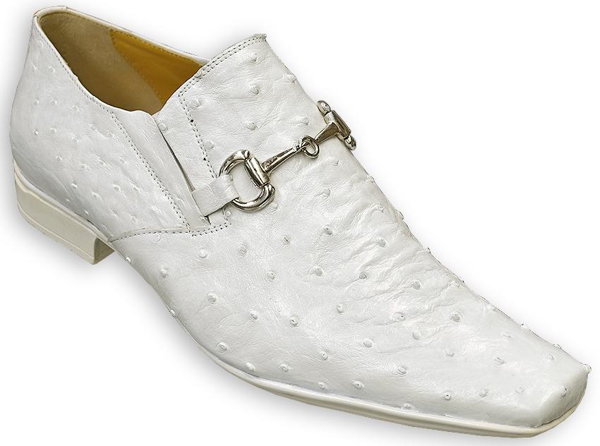 White Alligator Skin Shoes