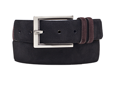 "Mezlan ""AO9188"" Black / Brown Genuine Two Tone English Suede Belt"