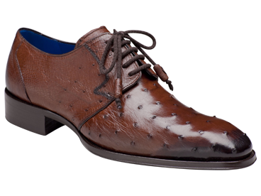 "Mezlan ""Albani"" Tabac All-Over Genuine Ostrich Shoes"