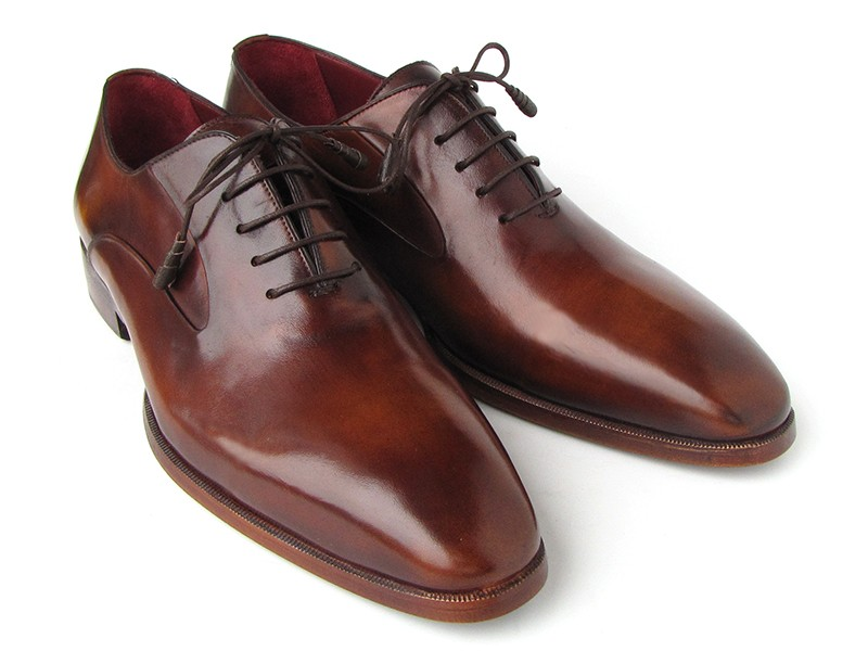 Paul Parkman 019 Brown Genuine Italian Calfskin Plain Toe Oxford Shoes