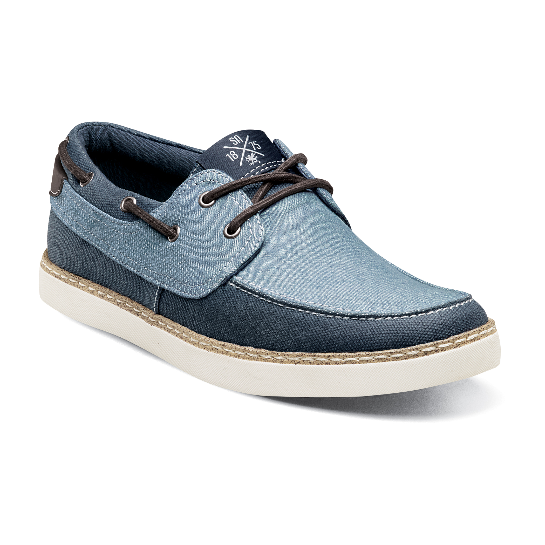 "Stacy Adams ""Tailwind"" Light Blue / Blue Denim Moc Toe Shoes 53415"