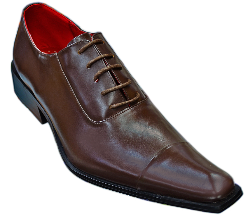 Zota Brown Pointed Toe Leather Shoes 7072 74 90