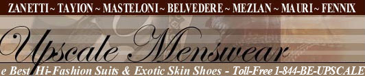 Designer Shoes, Men's Dress Suits and Upscale Menswear Clothing