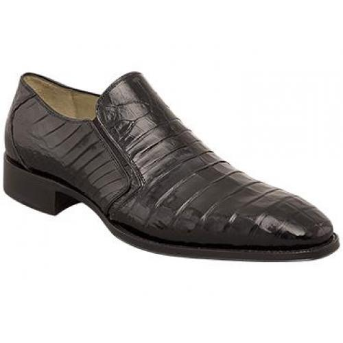 "Mezlan ""Fiorello"" Black All-Over Genuine Crocodile Loafer Shoes 3589-F."
