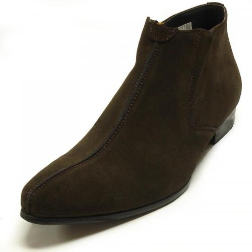 Encore By Fiesso Brown Suede Boots FI3101-S