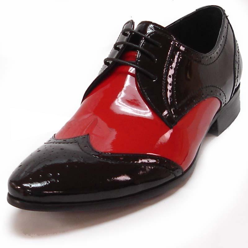 Red Wingtip Patent Leather Shoes FI3120