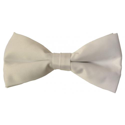 Classico Italiano White 100% Silk Bow Tie BT066