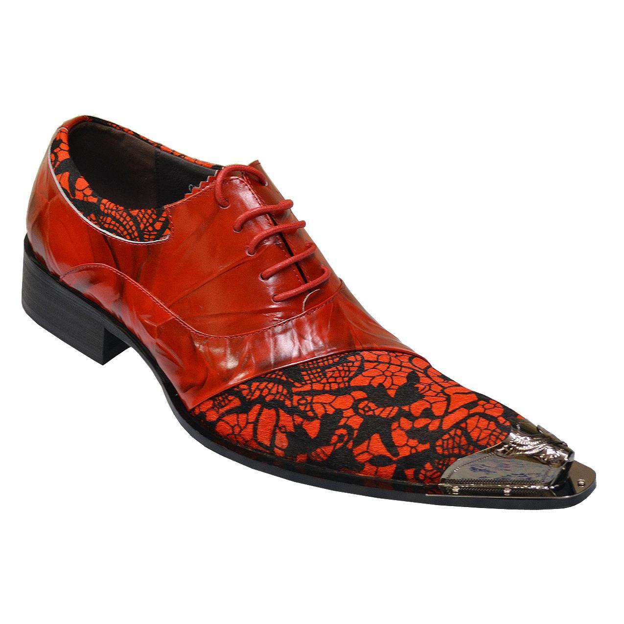 Men/'s Red Black Exotic Patent Designer Dress Slip On Metal tip Loafers Shoes