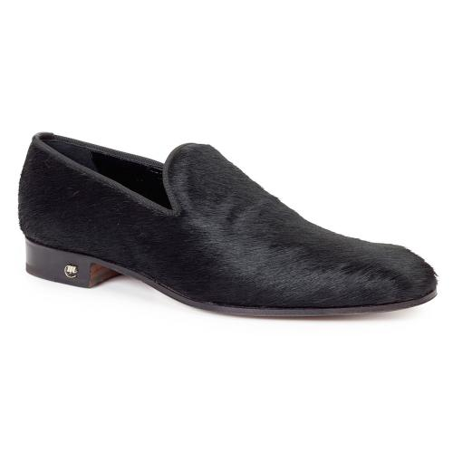 "Mauri ""Sartoria"" 53123 Black Genuine All Over Pony Dress Shoes"
