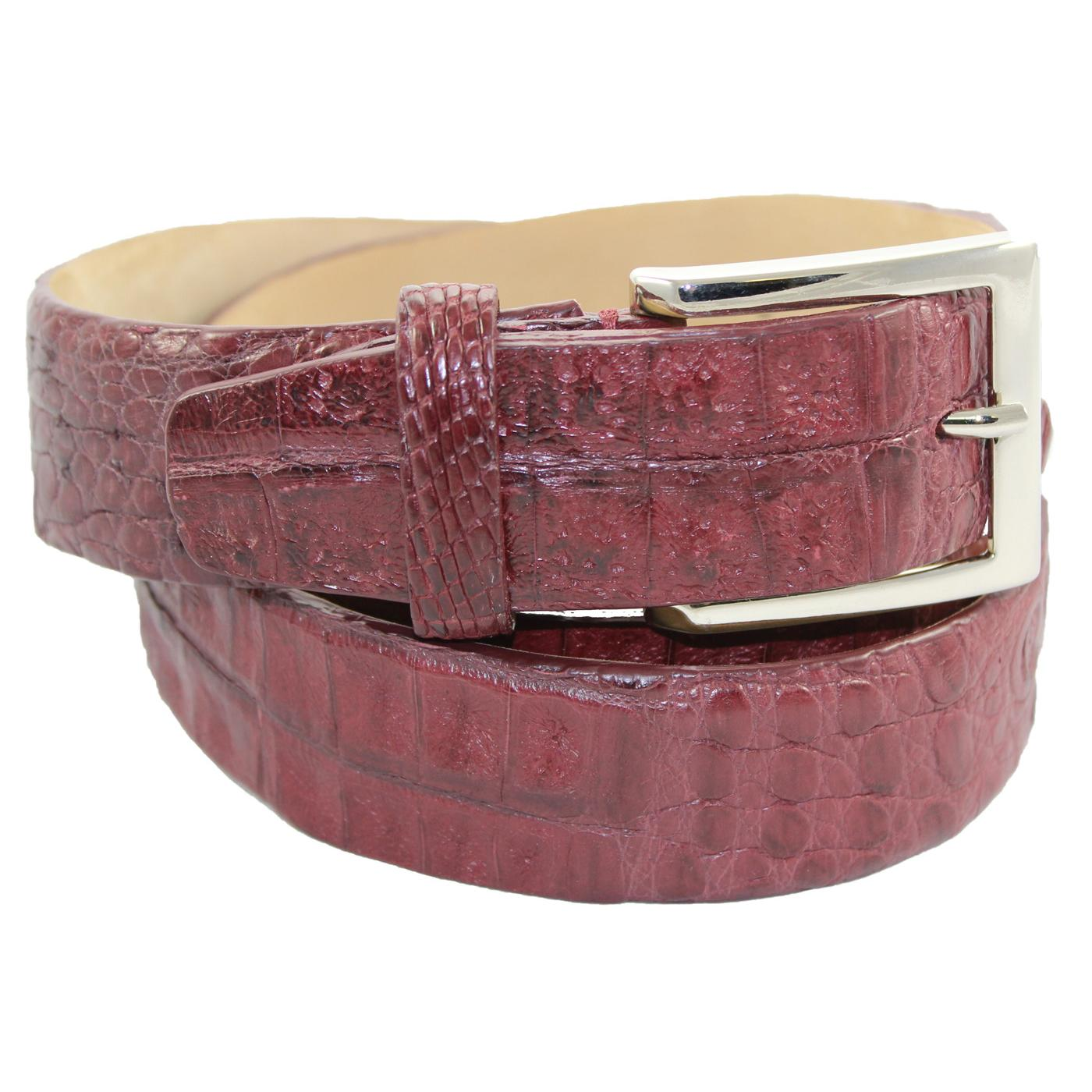 Red Hornback Snake Skin High Quality Fashion Dress Belt