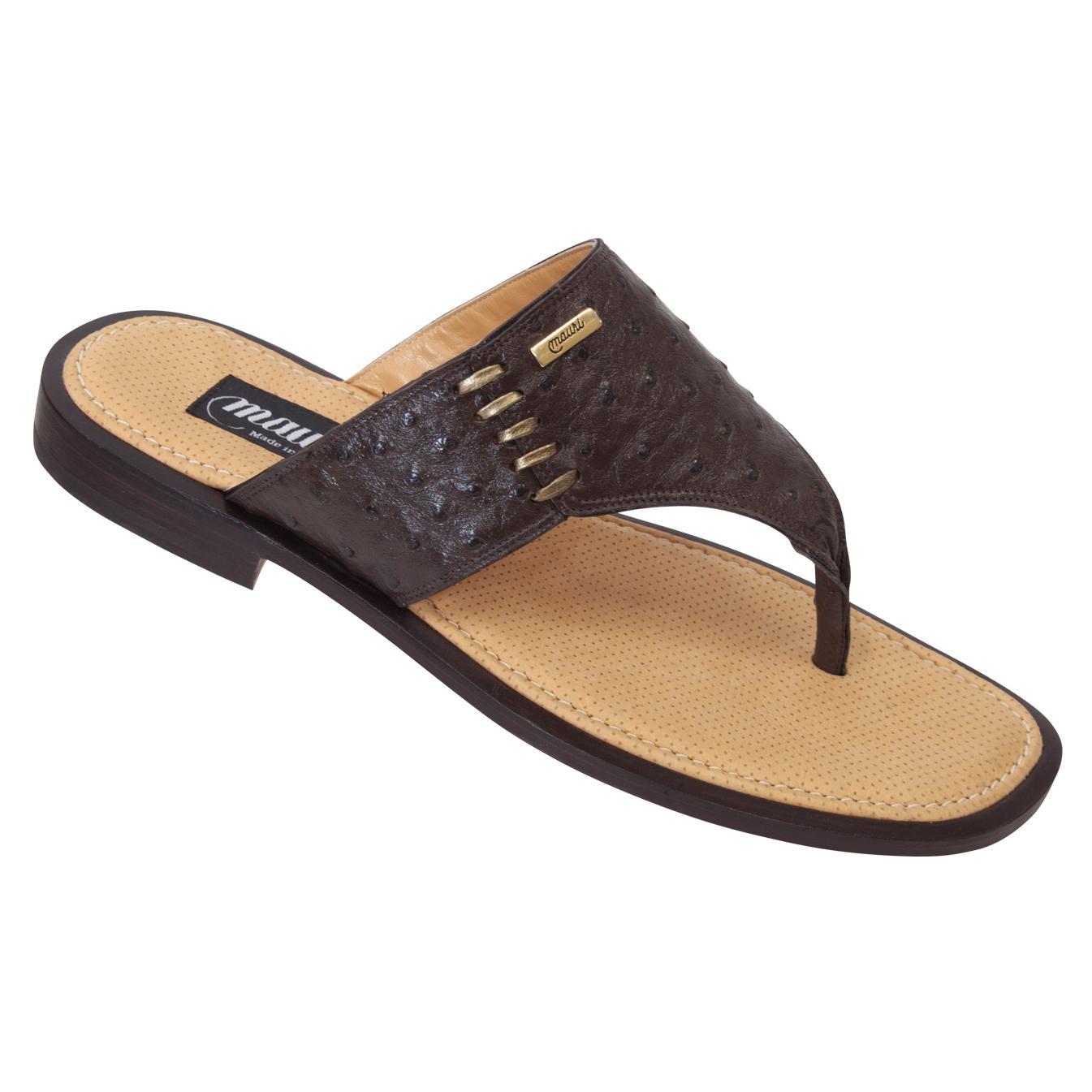 Mauri 1835 Nicotina Genuine Ostrich Sandals 649 90