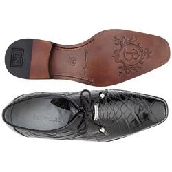 5e06f274a Belvedere Lago Black All-Over Genuine Alligator Shoes 14010 ...
